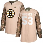 Adidas Cameron Hughes Boston Bruins Youth Authentic Veterans Day Practice Jersey - Camo