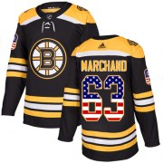 Adidas Brad Marchand Boston Bruins Men's Authentic USA Flag Fashion Jersey - Black