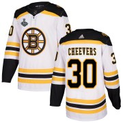 Adidas Gerry Cheevers Boston Bruins Men's Authentic Away 2019 Stanley Cup Final Bound Jersey - White