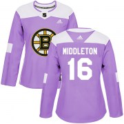 Adidas Rick Middleton Boston Bruins Women's Authentic Fights Cancer Practice Jersey - Purple